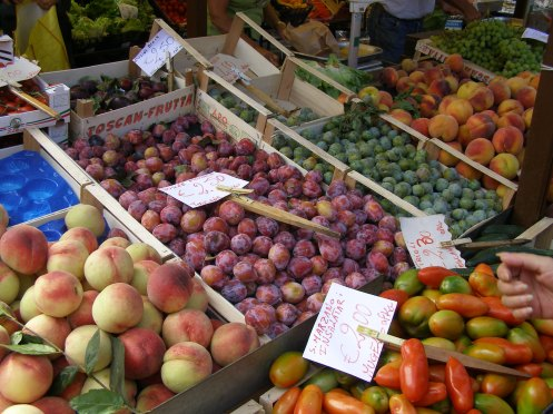 Summer fruit at an Italian Market