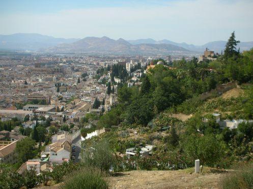 Vista di Granada dall'Alhambra